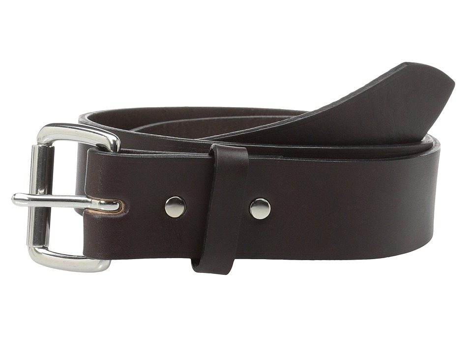 Filson 1 1/2 Leather Belt (Brown w/Stainless) Men