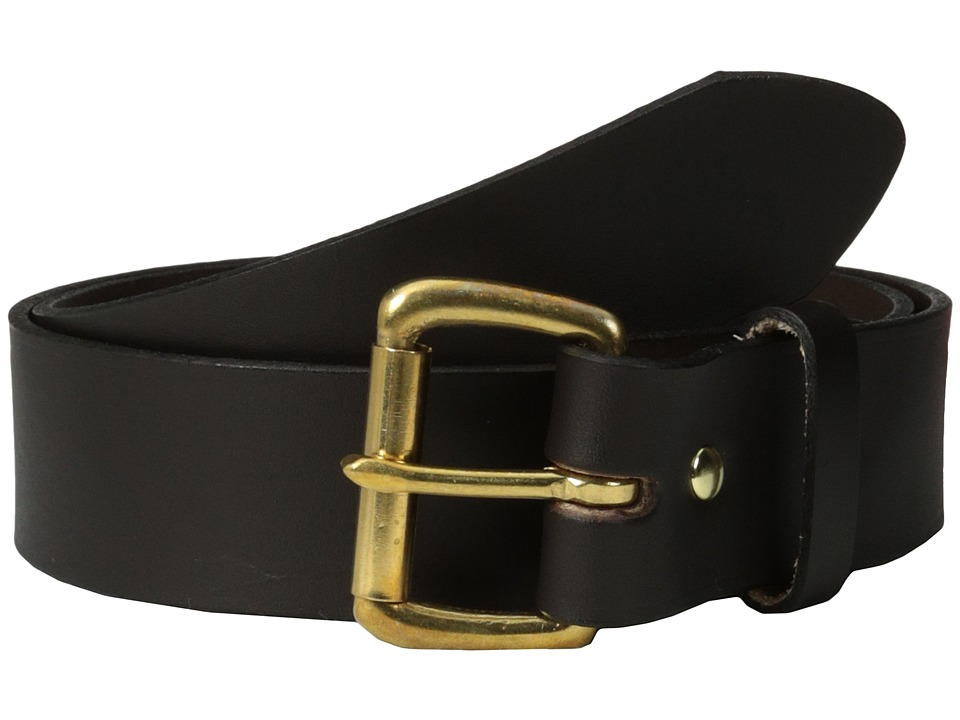Filson 1 1/2 Leather Belt (Brown w/Brass) Men