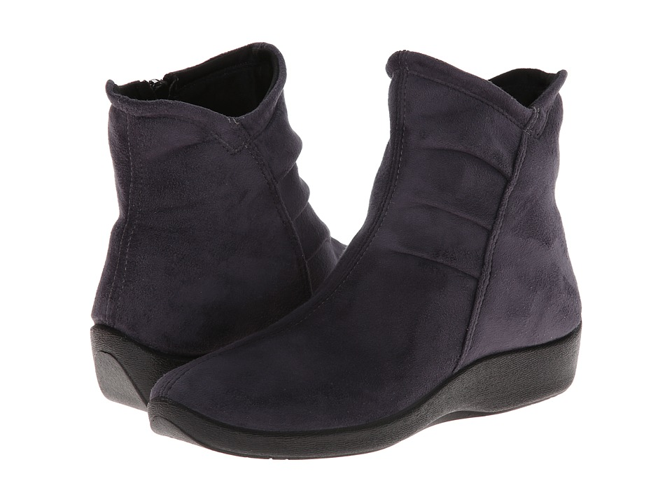 Arcopedico - L19 (Grey Suede) Womens Zip Boots