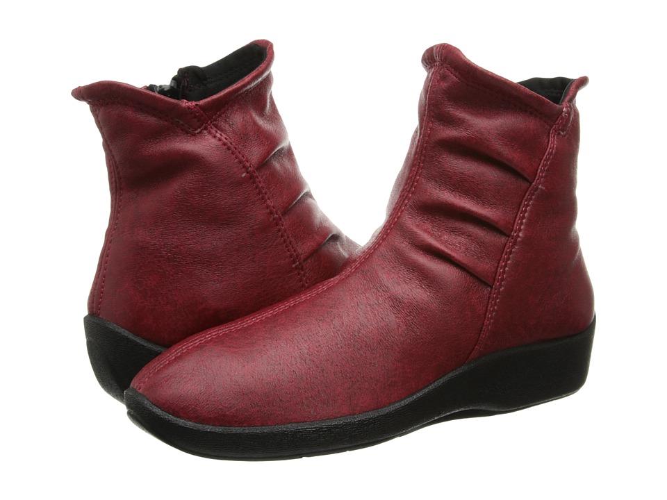 Arcopedico L19 (Cherry Red) Women's Zip Boots