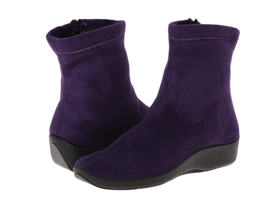 Arcopedico - L8 (Violet Suede) Womens Zip Boots