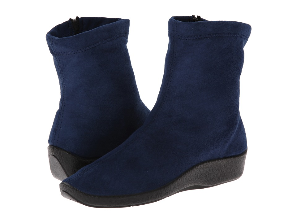 Arcopedico L8 (Navy Suede) Women's Zip Boots