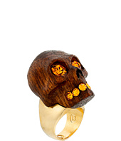 Alexander McQueen - Wood Skull Ring