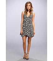 Tbags Los Angeles - Woven Spag Strap Triangle Hi-Lo Dress