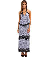 Tbags Los Angeles - Convertible Maxi Dress w/ Black/Gold Neck Piece