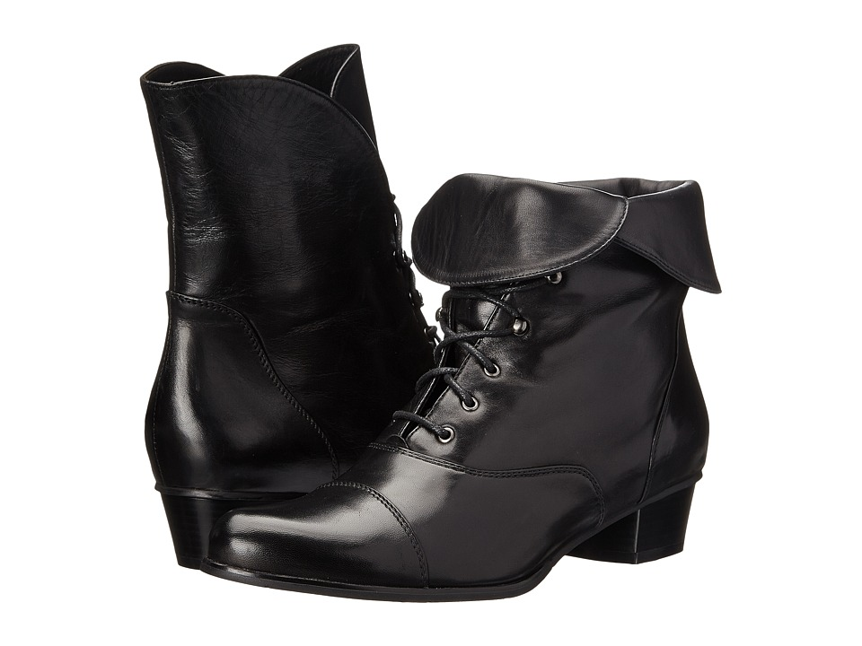 Ladies Victorian Boots & Shoes Spring Step - Galil Black Womens Shoes $179.99 AT vintagedancer.com