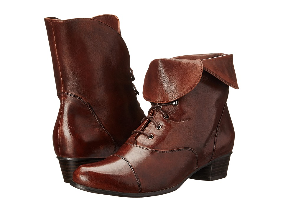 Ladies Victorian Boots & Shoes Spring Step - Galil Medium Brown Womens Shoes $179.99 AT vintagedancer.com