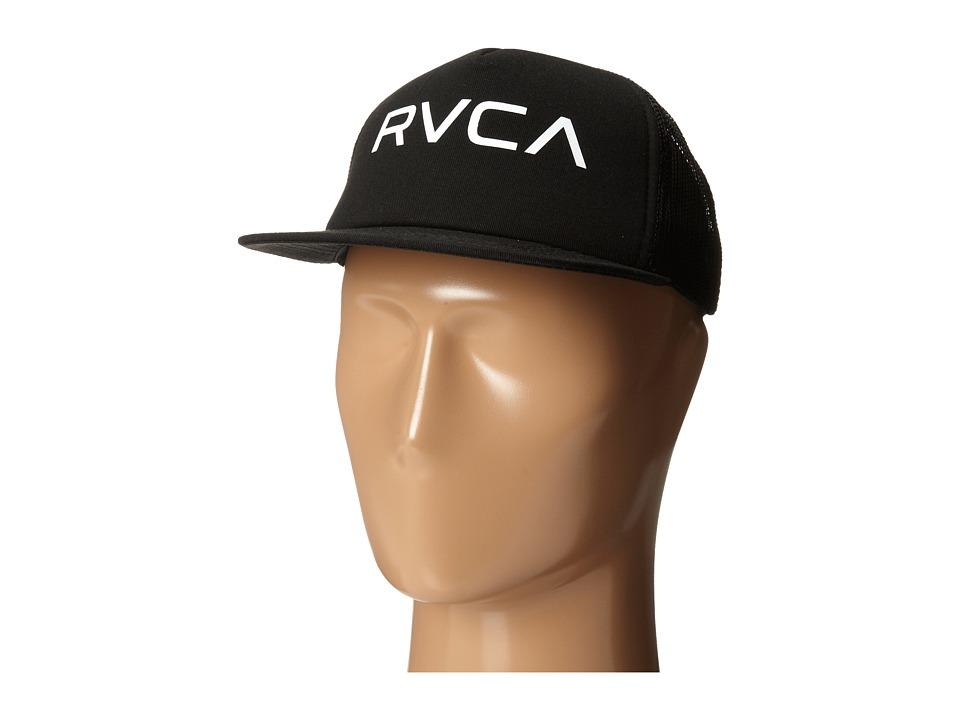 RVCA Change of Heart Trucker Hat Black/White Caps