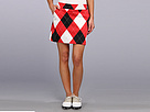 Loudmouth Golf Red and White and Black Skort