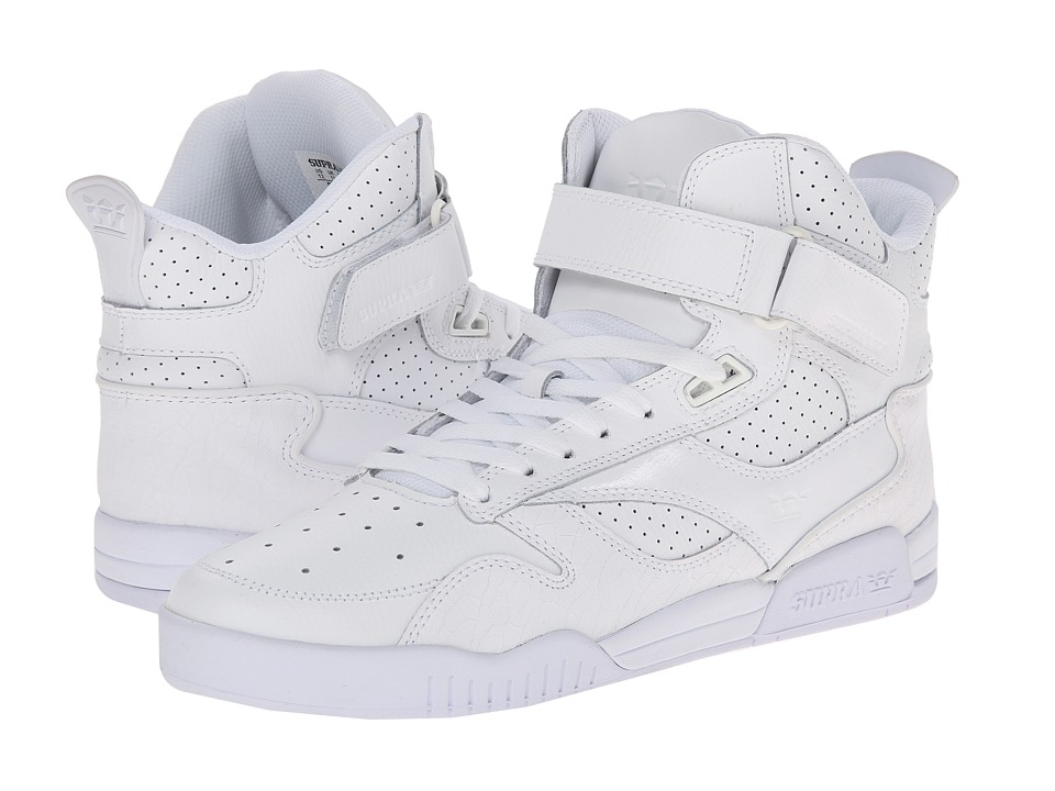 Supra Bleeker White/White Mens Skate Shoes
