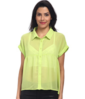 Cliché Mode - Button Front Hi-Low Blouse