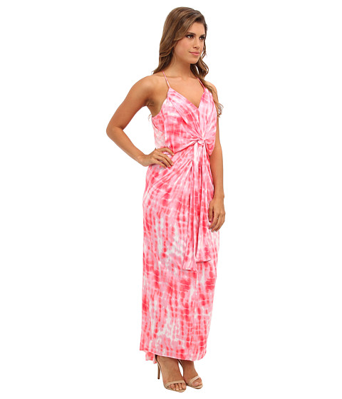 Tbags Los Angeles Tie Front Maxi Dress - 6pm.com