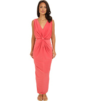Tbags Los Angeles - V-Neck Drape Sleeve Waisted Maxi w/ Tie Belt