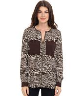 MICHAEL Michael Kors - Savannah Zebra L/S Oversized Blouse
