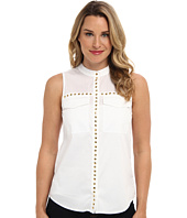 MICHAEL Michael Kors - Embellished S/L Pocket Blouse