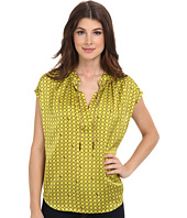MICHAEL Michael Kors - Chain Lace Split Neck S/S Blouse