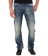Buffalo David Bitton - Six Slim Straight Leg New Rail in Dirty & Repaired Wash