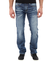Buffalo David Bitton - Driven Straight Leg Jean In New Rail Fabric in Sanded/Damaged & Repaired