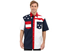Roper S/S Pieced Stars and Stripes Patriotic