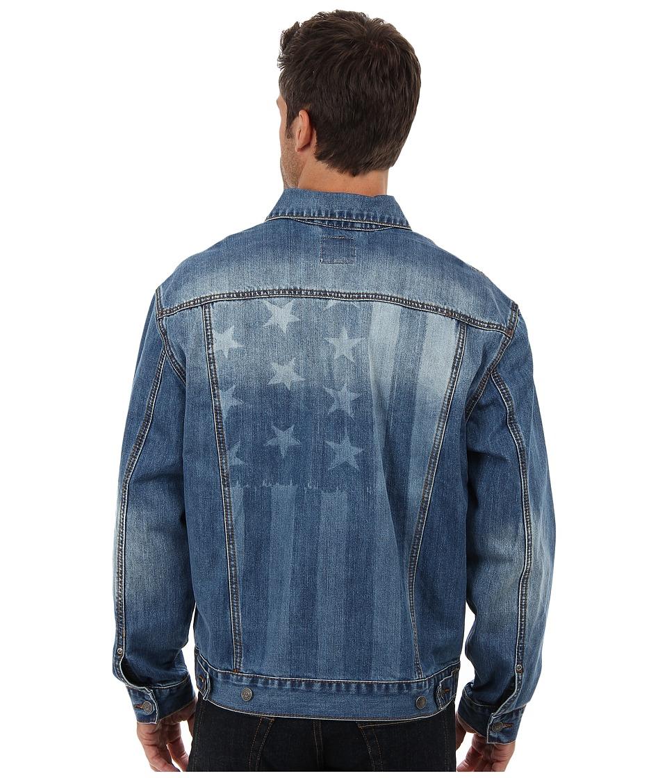Roper Vintage Patriotic Jean Jacket (Blue) Men's Jacket