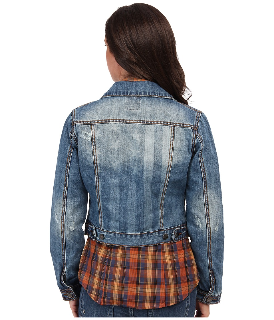 Roper - Vintage Patriotic Jean Jacket (Blue) Womens Jacket