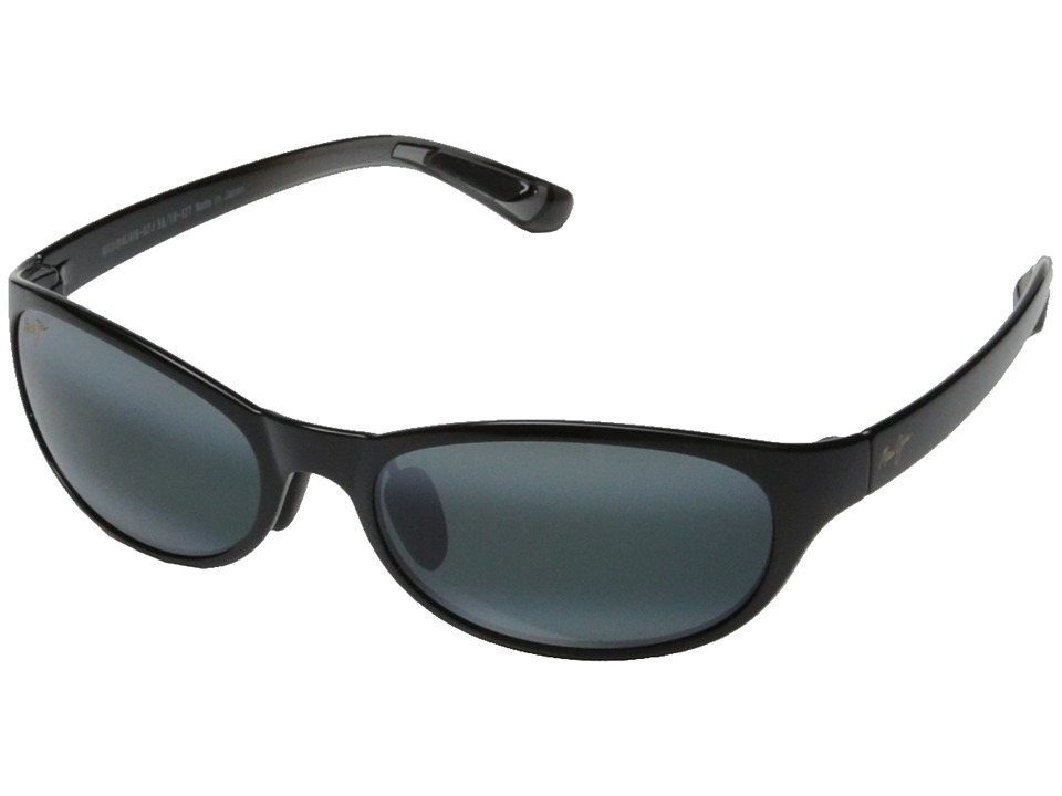 Maui Jim - Pipiwai Trail (Gloss Black Fade/Neutral Grey) Sport Sunglasses