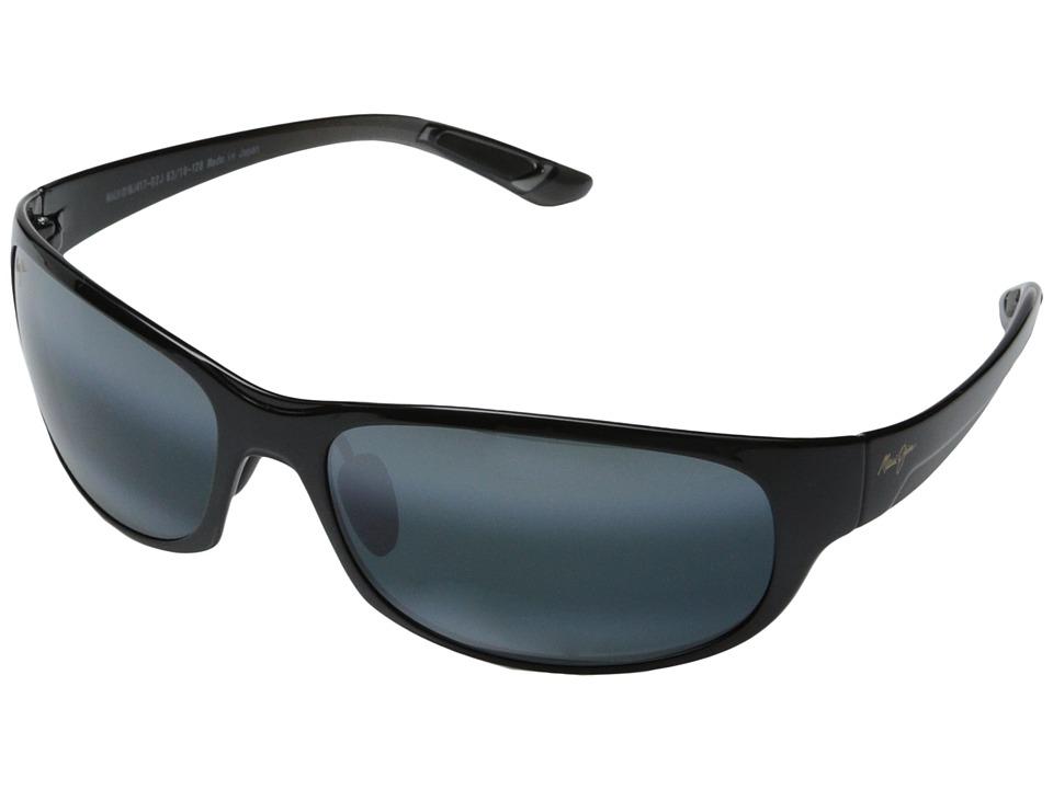 Maui Jim Twin Falls (Gloss Black Fade/Neutral Grey) Sport Sunglasses