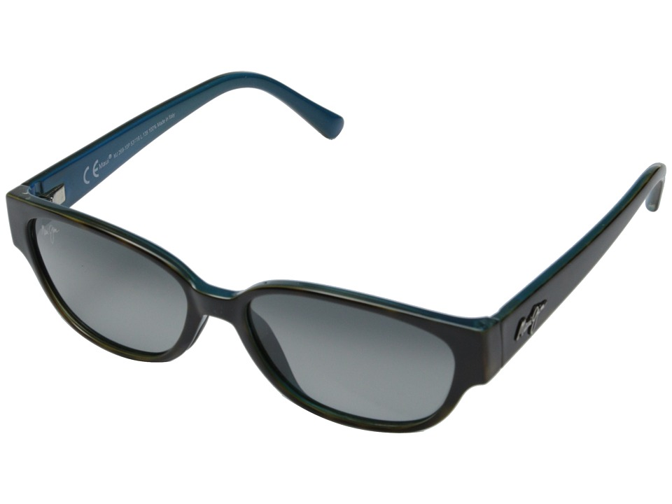 Maui Jim Anini Beach Tortoise and Peacock Blue/Neutral Grey Sport Sunglasses