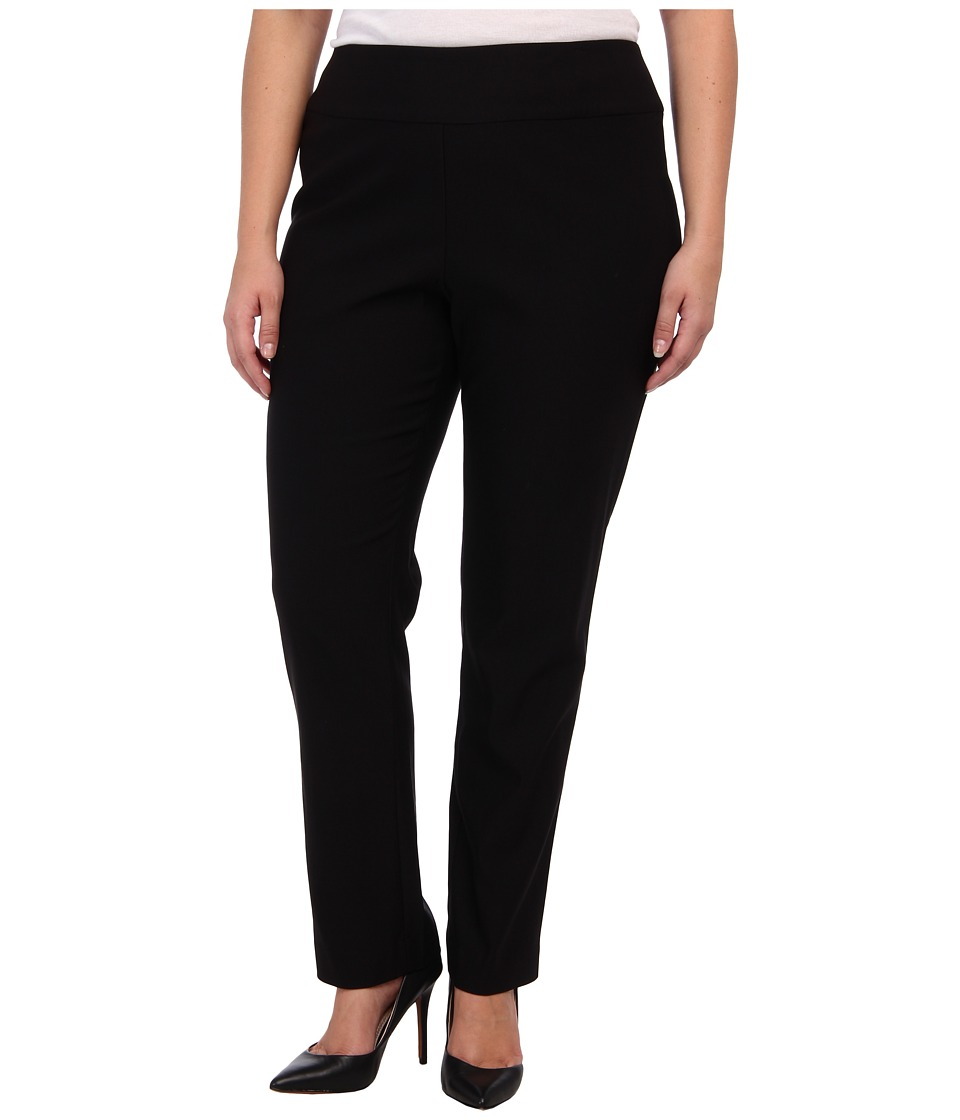 NIC+ZOE - Plus Size Wonder Stretch Pant (Black Onyx) Womens Casual Pants