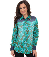 Roper - 9385 Emerald Floral Print Shirt