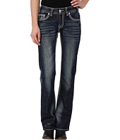 Rock and Roll Cowgirl - Mid Rise Boot Cut in Dark Vintage