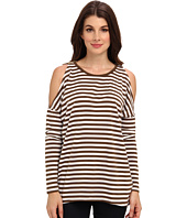 MICHAEL Michael Kors - L/S Stripe Cold Shoulder Top