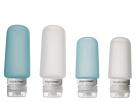 Eagle Creek Silicone Bottle Set (Clear/Aqua)