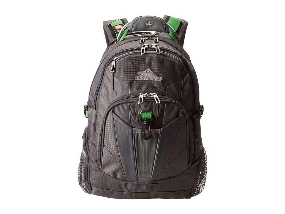 High Sierra - XBT - TSA Backpack (Charcoal/Silver/Kelly) Backpack Bags