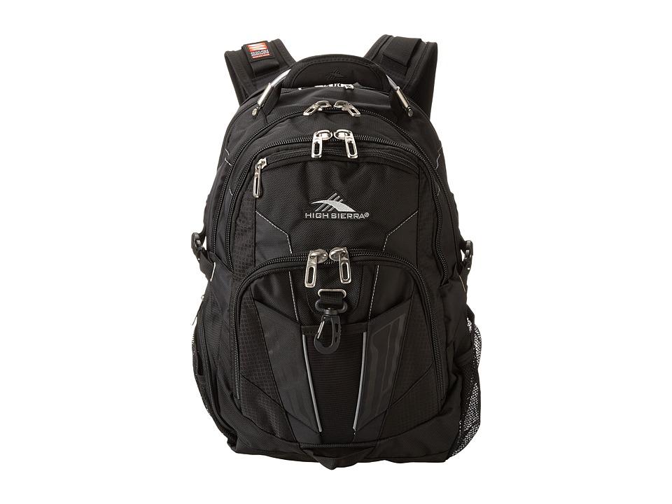 High Sierra XBT TSA Backpack Black Backpack Bags