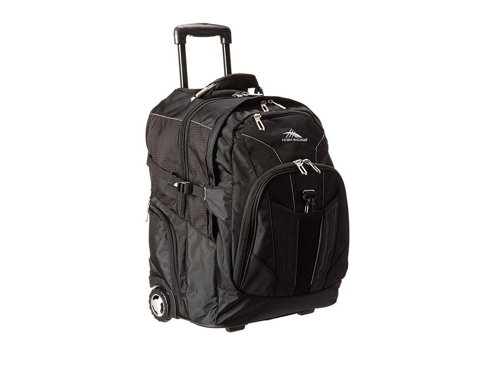 High Sierra XBT Wheeled Backpack Black Backpack Bags