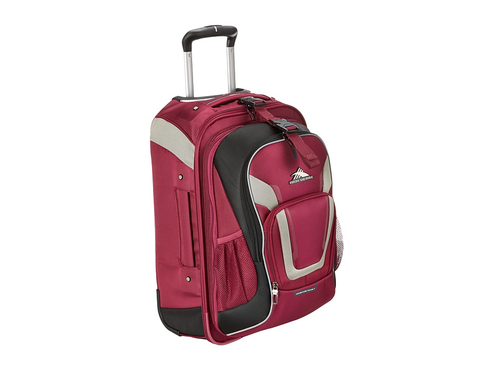 High Sierra AT7 Carry On Wheeled Backpack Boysenberry Backpack Bags