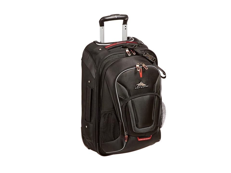 High Sierra AT7 Carry On Wheeled Backpack Black Backpack Bags