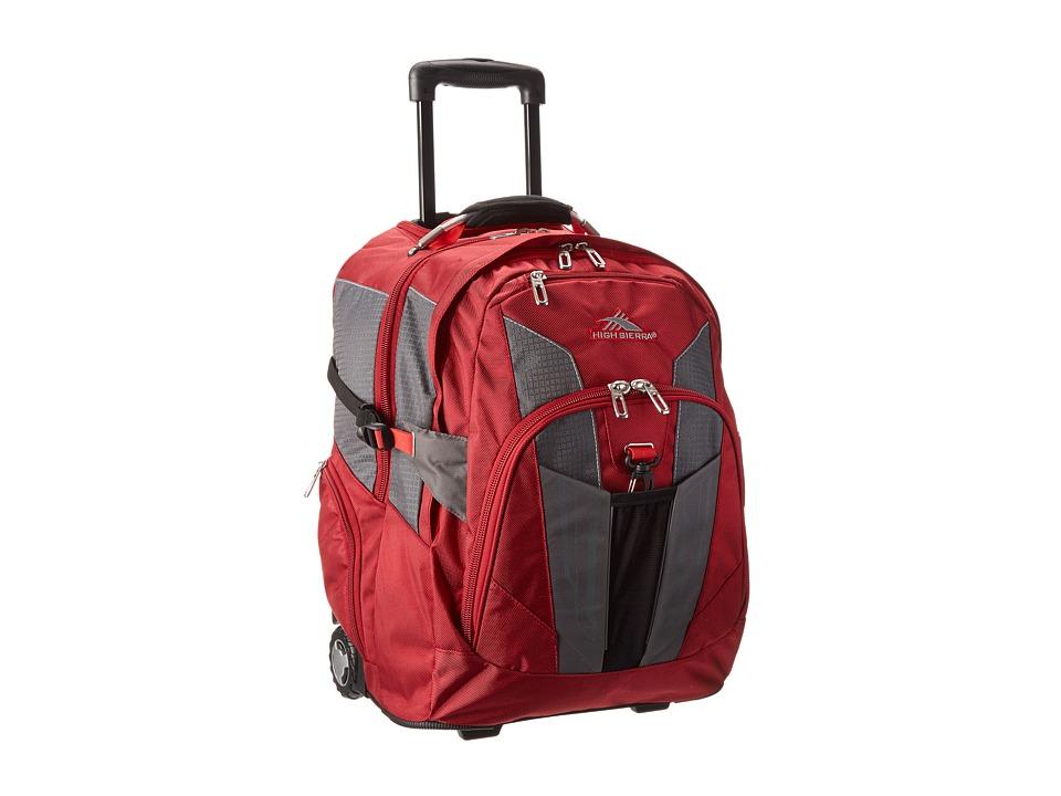 High Sierra XBT Wheeled Backpack Carmine/Red Line/Black Backpack Bags