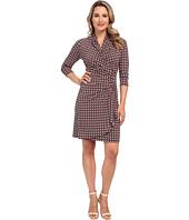 Karen Kane - Geo Dot Cascade Wrap Dress