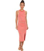 Dolce Vita - Calico Linen Stripe - Thin Stripe Mid Maxi