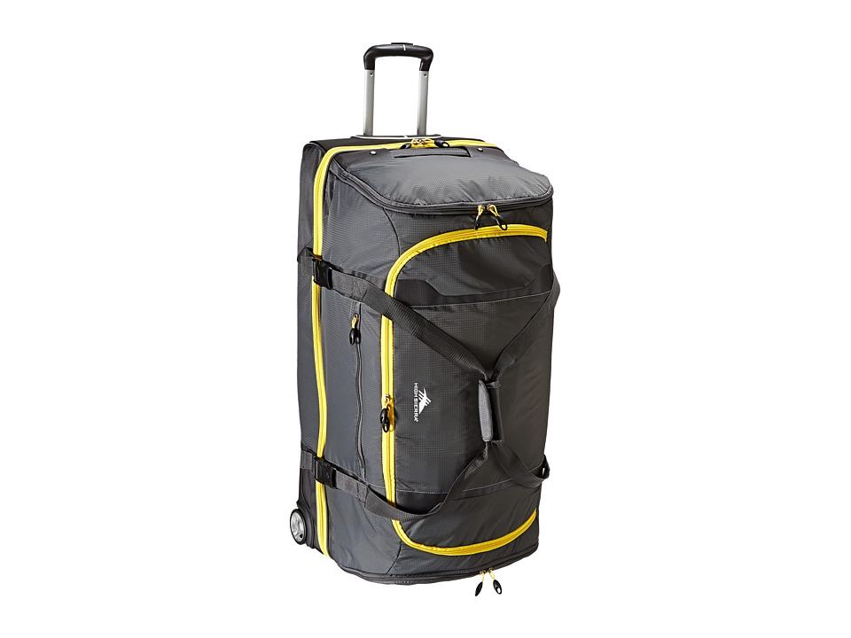 High Sierra Sportour 34 Drop Bottom Wheeled Duffel Grey/Mercury/Black/Sunflower Weekender/Overnight Luggage