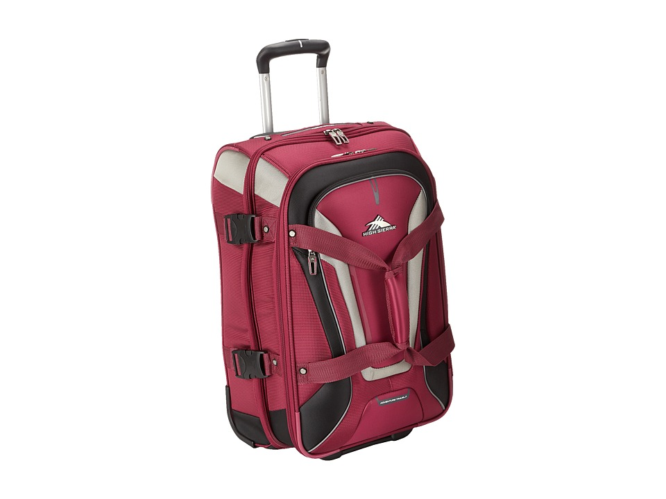 High Sierra - AT7 Carry-on Wheeled Duffel (Boysenberry) Duffel Bags