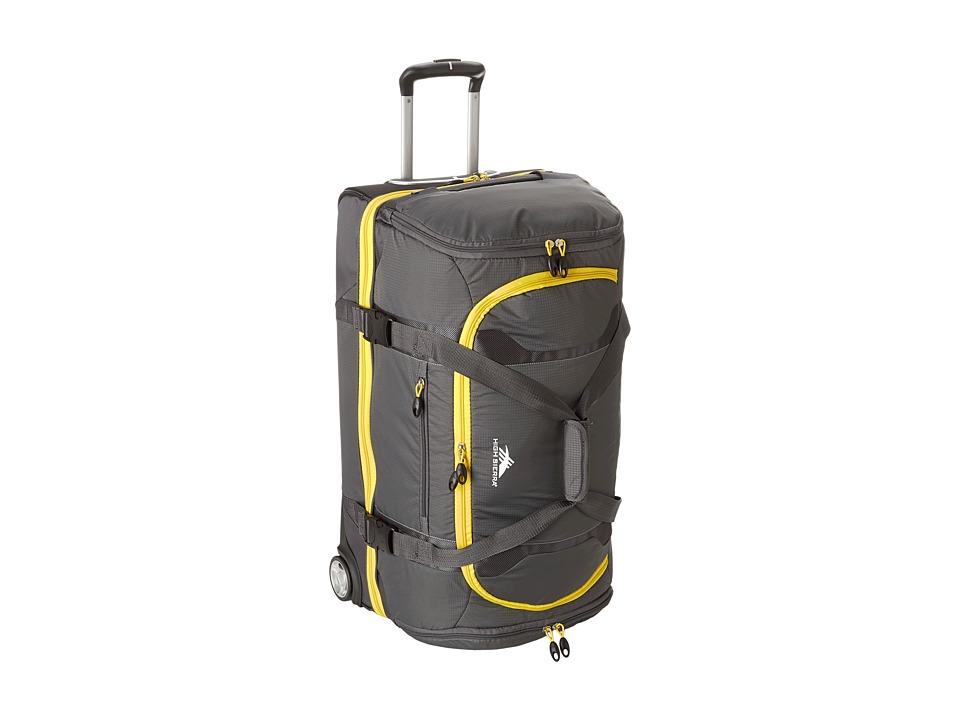 High Sierra - Sportour 28 Drop-Bottom Wheeled Duffel (Grey/Mercury/Black/Sunflower) Duffel Bags