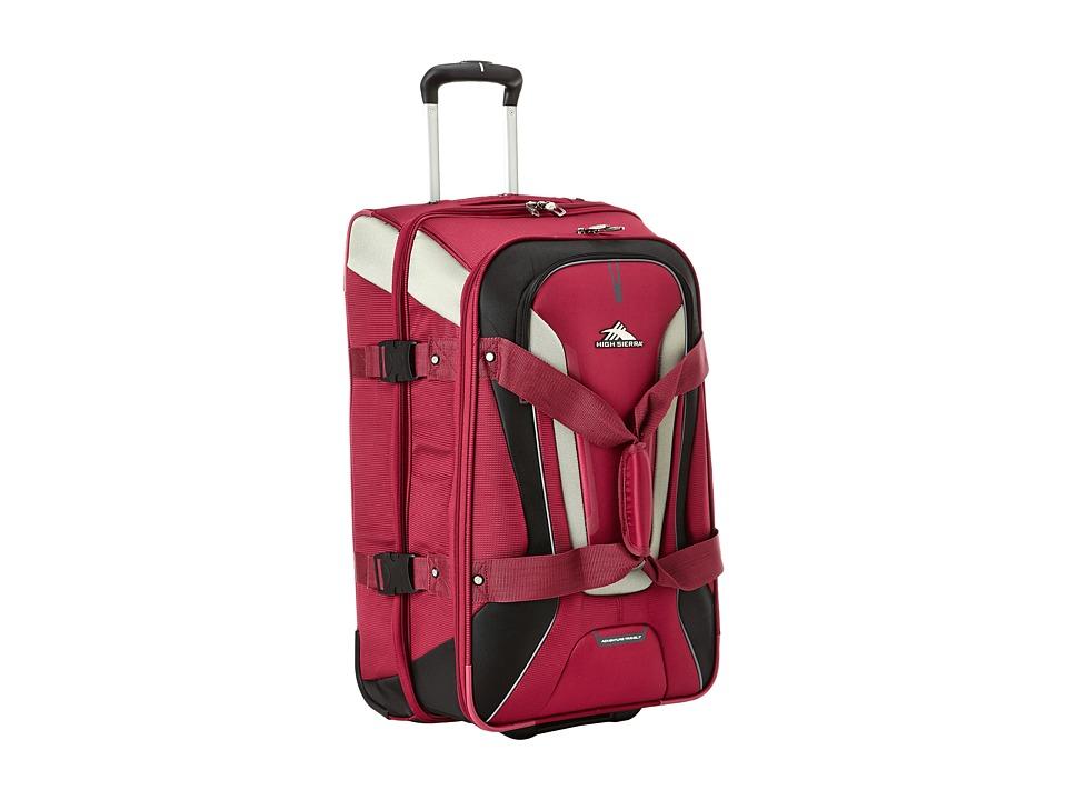 High Sierra AT7 26 Wheeled Duffel Boysenberry Weekender/Overnight Luggage