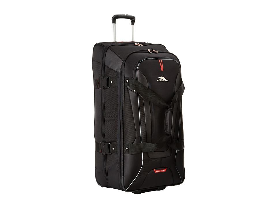 High Sierra - AT7 32 Wheeled Duffel (Black) Duffel Bags