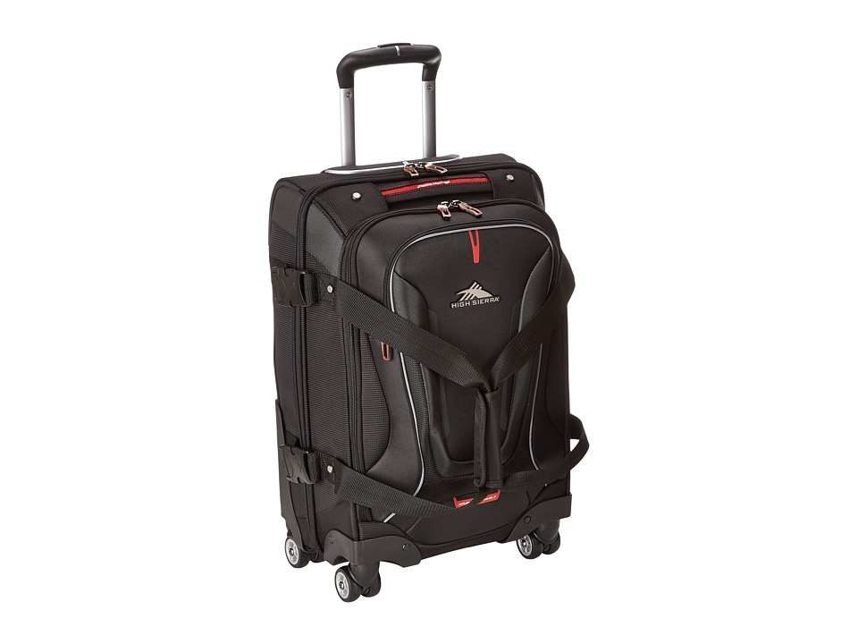 High Sierra - AT7 Carry-on Spinner Duffel (Black) Duffel Bags