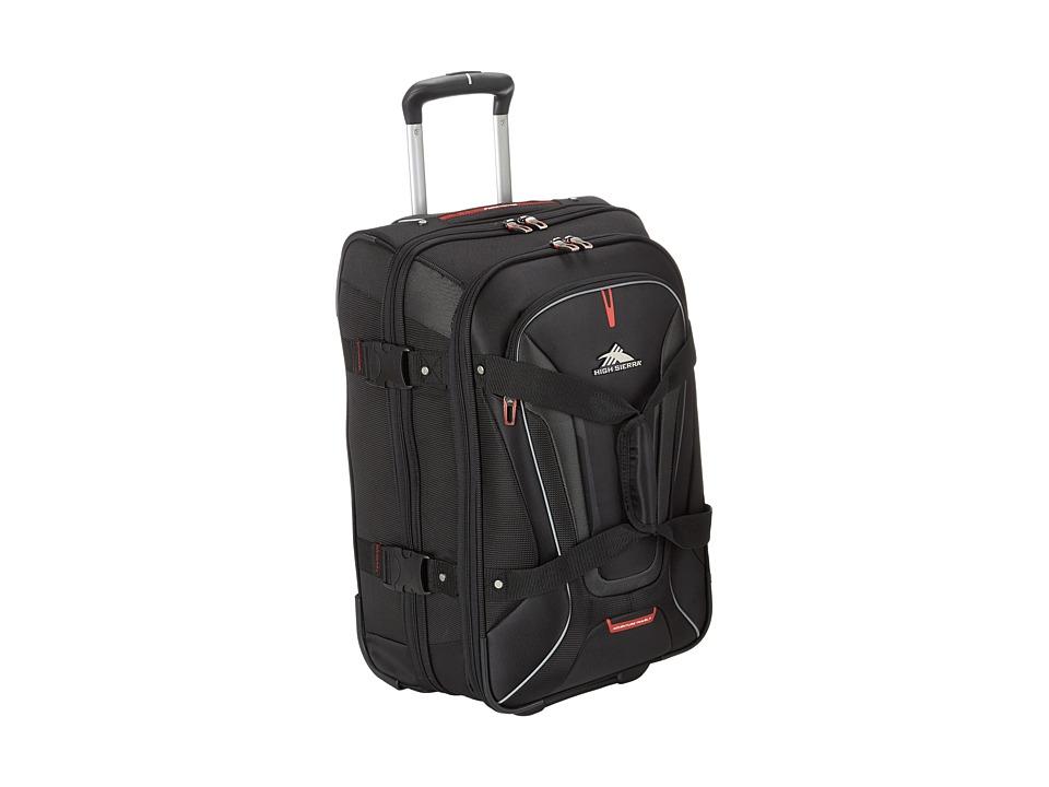 High Sierra - AT7 Carry-on Wheeled Duffel (Black) Duffel Bags