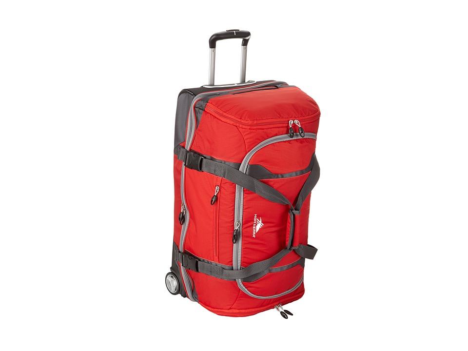 High Sierra - Sportour 28 Drop-Bottom Wheeled Duffel (Red/Mercury/Black/Ash) Duffel Bags