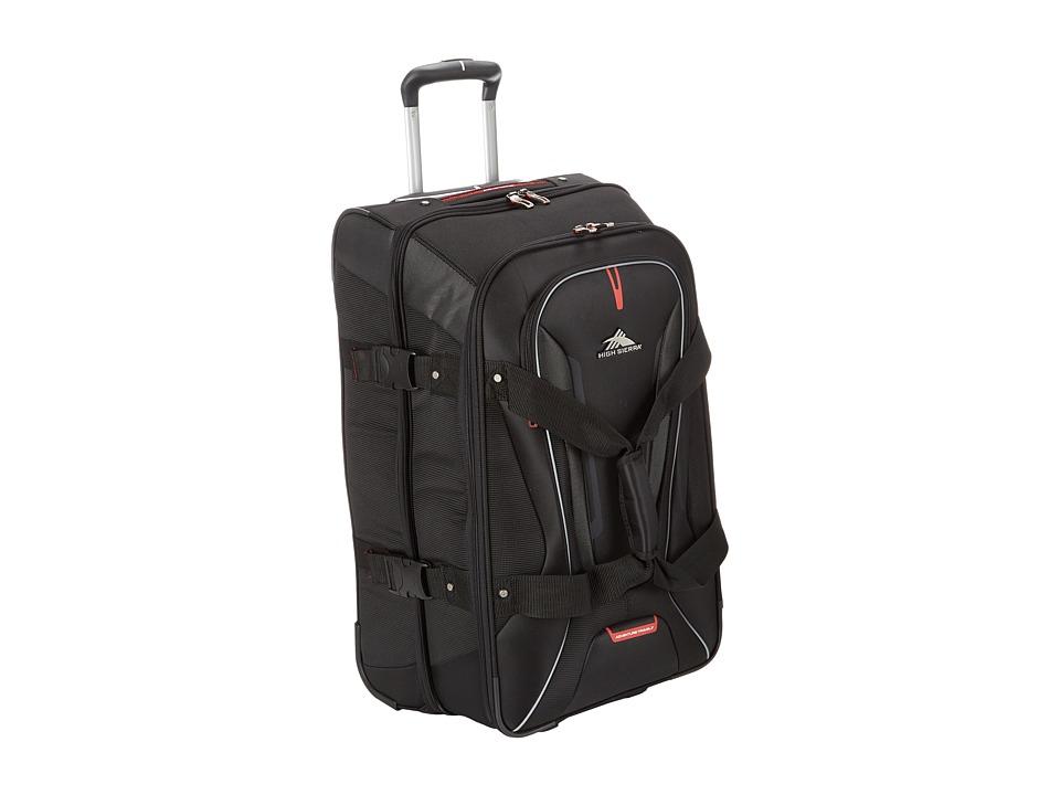 High Sierra AT7 26 Wheeled Duffel Black Weekender/Overnight Luggage